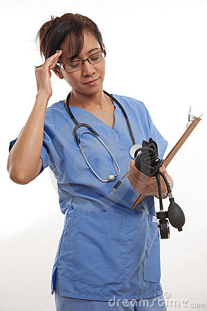 Attractive asian filipino nurse doctor