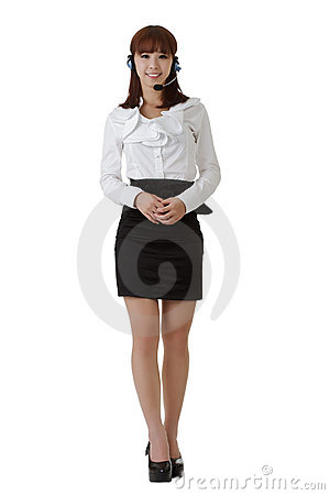Attractive Asian secretary