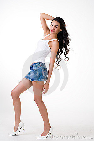 Attractive asian young woman