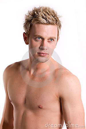 Free Attractive Bare Chested Young Man. Royalty Free Stock Photos - 11069628