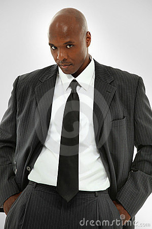 Attractive Black Male In A Modern Business Suit