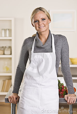 Attractive blond chef