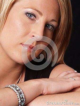 Attractive Blond Model Headshot