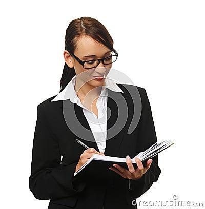 Attractive brunette business woman