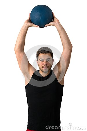 Free Attractive Brunette Man Working Out Royalty Free Stock Photo - 25126955