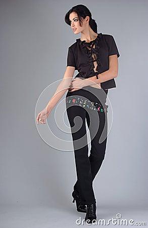 Attractive brunette model