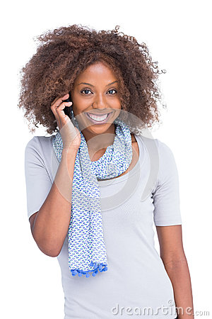 Free Attractive Brunette On The Phone Royalty Free Stock Photos - 31545818