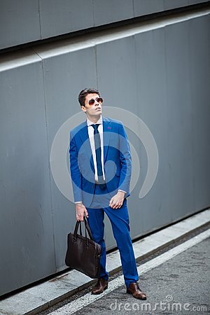 Free Attractive Businessman Standing In The Street Stock Images - 101730514
