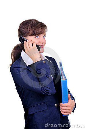 Attractive businesswoman with cellphone
