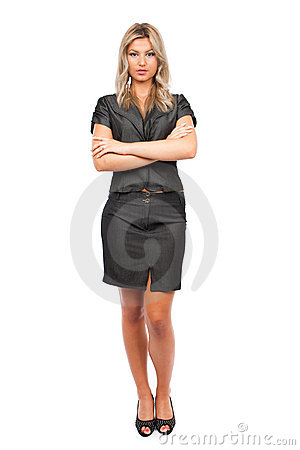 Attractive businesswoman, full body shot