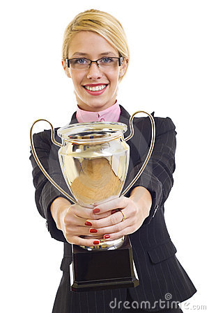 Free Attractive Businesswoman Winning Royalty Free Stock Photos - 12112948