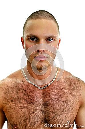 Attractive caucasian man portrait.