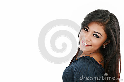 Attractive caucasian smiling woman
