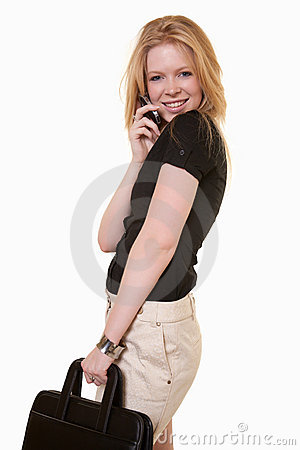 Attractive caucasian telecommunications worker