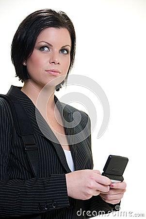 Attractive confident brunette american businesswom