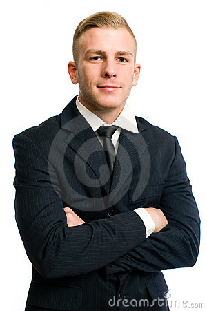 Attractive confident young businessman.
