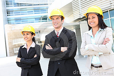 Attractive Construction Team