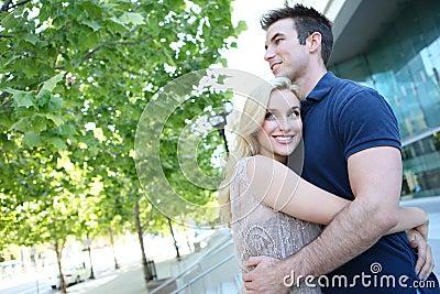 Attractive Couple in Love
