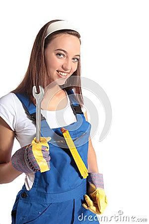 Attractive craftswoman