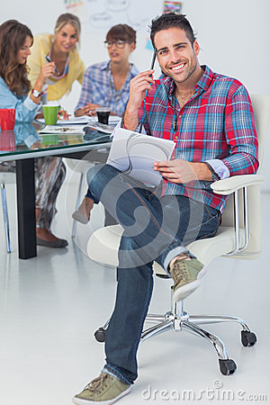 Free Attractive Designer Sit In His Office Royalty Free Stock Photography - 31448327