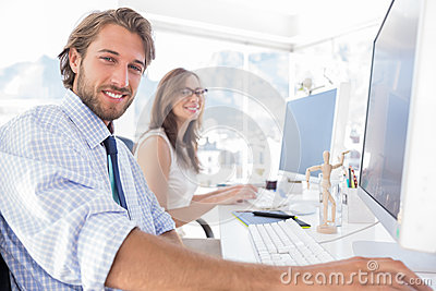 Attractive designers at work