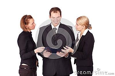 An attractive, diverse business team