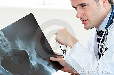 Attractive doctor at work