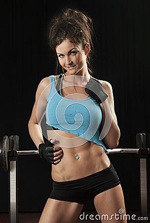 Attractive Female Fitness Model