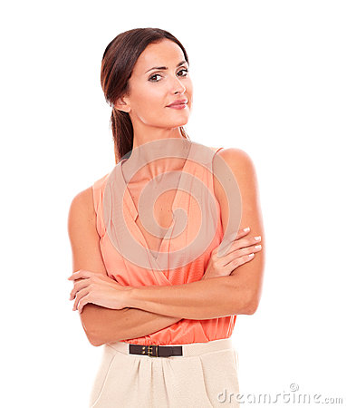 Free Attractive Female In Elegant Blouse Looking At You Stock Photos - 48893433
