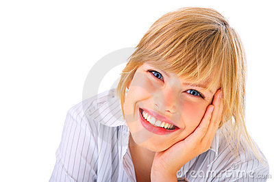 Attractive female student
