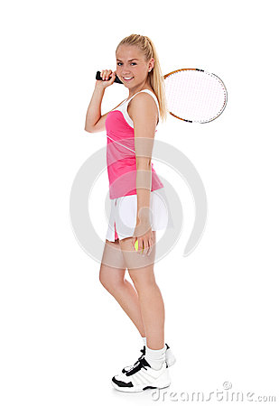 Attractive female tennis player
