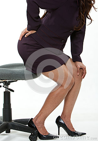 Attractive forties asian business woman