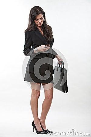 Attractive forties caucasian businesswoman