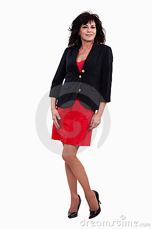 Attractive forties hispanic brunette businesswoman