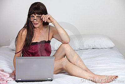 Attractive forties hispanic brunette woman