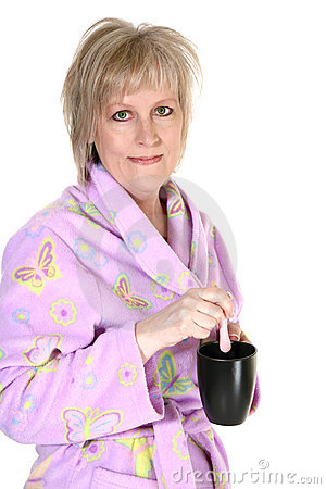 Attractive Forty Year Old Woman with Coffee
