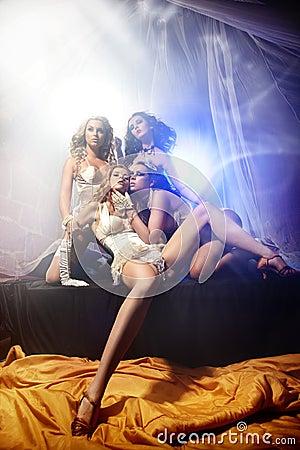 Attractive four ladies
