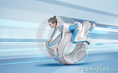 Attractive future bike rider
