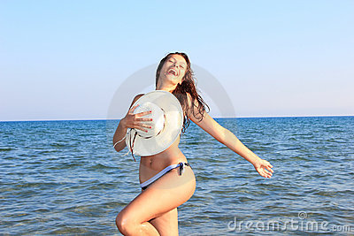 Attractive girl on the beach