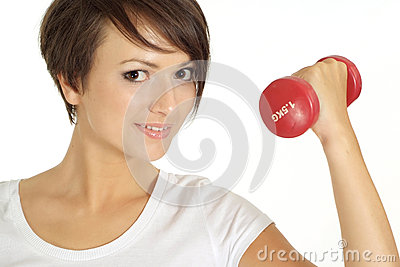 Attractive girl at the gym