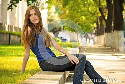 Attractive girl relaxing