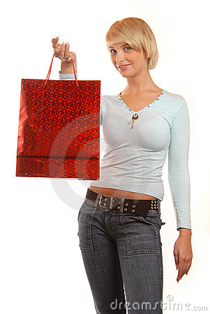 Attractive girl shopping