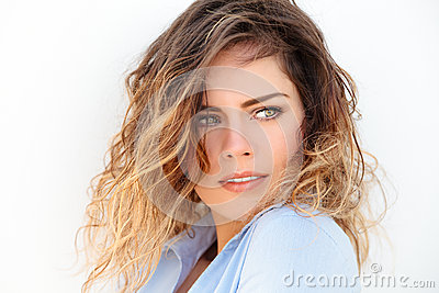 Attractive green eyes woman