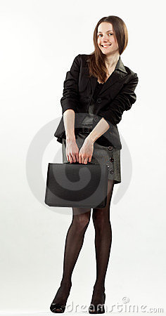 Attractive happy young businesswoman