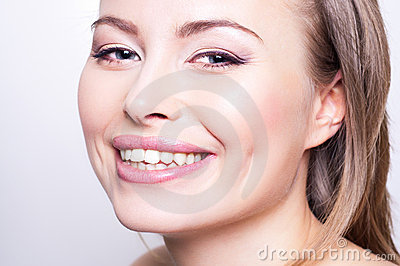 Attractive happy young woman portrait