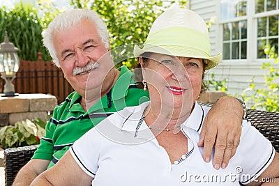 Attractive healthy happy senior couple