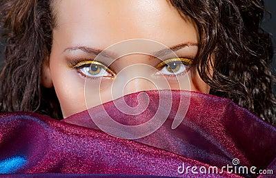 Attractive hispanic female and silk