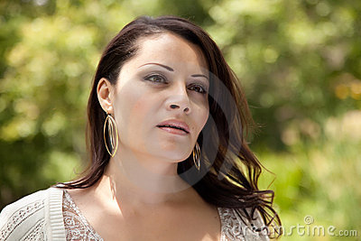 Attractive Hispanic Woman in the Park