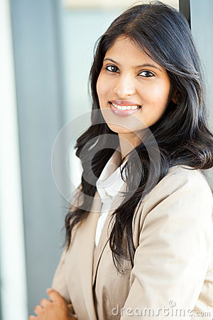 Attractive indian businesswoman