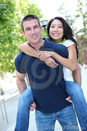 Attractive Interracial Couple (Focus on Man)